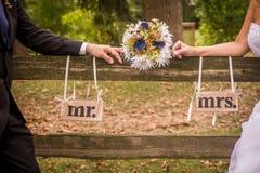 结婚的夫妇 免版税库存图片