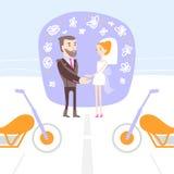 结婚的男人和的妇女 免版税图库摄影