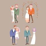 结婚的男人和的妇女 免版税库存图片