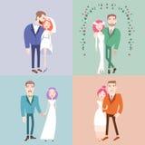 结婚的男人和的妇女 免版税库存照片