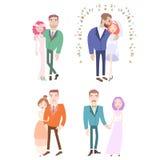 结婚的男人和的妇女 库存图片
