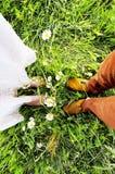 结婚的脚 库存图片