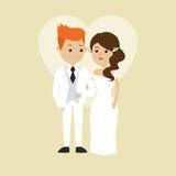 结婚的设计 婚礼象 五颜六色的例证,传染媒介 皇族释放例证