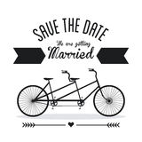 结婚的设计 婚礼象 平的例证 免版税图库摄影