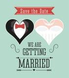 结婚的设计 婚礼象 平的例证 库存图片
