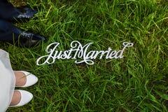 结婚的题字 库存图片