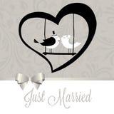 结婚的鸟 库存例证