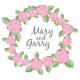 婚礼与花卉元素的邀请卡片 库存照片