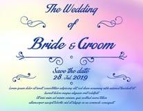 婚礼与花的邀请卡片 库存照片