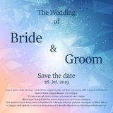 婚礼与花的邀请卡片 免版税库存照片