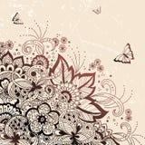 婚礼与装饰品的邀请和公告卡片在阿拉伯样式 蔓藤花纹样式 东部种族装饰品 免版税库存图片