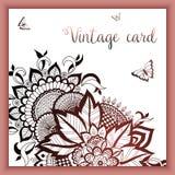 婚礼与装饰品的邀请和公告卡片在阿拉伯样式 蔓藤花纹样式 东部种族装饰品 库存照片