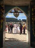 婚礼之日在墨西哥 库存照片