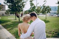 婚礼之日在布达佩斯 免版税库存图片