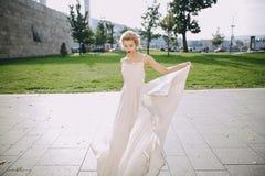 婚礼之日在布达佩斯 免版税图库摄影