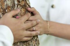 婚礼之日的共同的图片 免版税库存照片