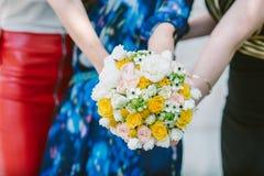 婚礼之日花束 免版税库存照片