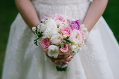 婚礼之日花束 免版税库存图片