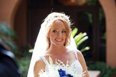 婚礼之日首先看 免版税库存图片
