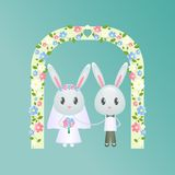 婚礼兔子 免版税库存照片