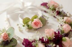 婚礼冠花 库存照片