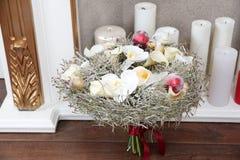 婚礼冬天花束 库存照片