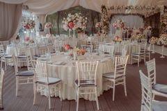 婚礼制表婚礼的装饰 免版税库存图片