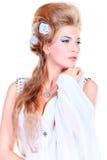 婚礼发型 免版税库存图片