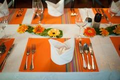 婚礼和宴会桌 免版税图库摄影