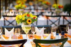 婚礼和宴会桌 图库摄影