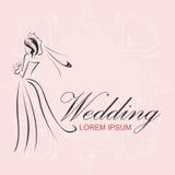 婚礼商标 免版税图库摄影