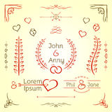 婚礼图表集合 免版税图库摄影