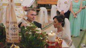 婚礼在基督教会里 股票录像