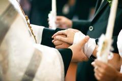 婚礼在教会里 免版税库存图片
