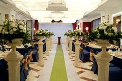 婚礼场面设计 免版税库存图片