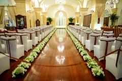 婚礼场面 免版税图库摄影