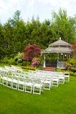 婚礼培训地点和椅子 库存图片