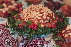 婚礼大面包 库存照片