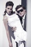 婚礼夫妇特写镜头 免版税库存照片