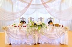 婚礼宴会桌 免版税库存照片