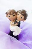 婚礼小雕象 免版税库存图片