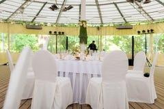 婚礼帐篷 免版税库存图片