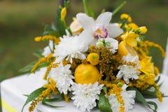 婚礼开花场面 免版税库存照片