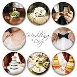 婚礼拼贴画 图库摄影