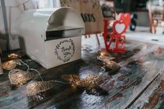 婚礼捐赠箱子 库存图片