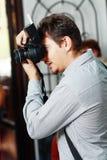 婚礼摄影师 免版税库存照片