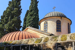 婚礼教会,坎纳村,拿撒勒,以色列 库存照片