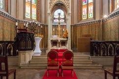 婚礼教堂内部 免版税库存图片