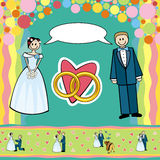 婚礼明信片 库存照片