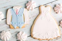 婚礼曲奇饼 库存图片